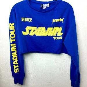 H&M x Justin Bieber Purpose Stadium Tour Crop Top
